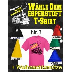 T-Shirt Esperstoft Fuchsia Nr. 3 mit Weihnachtsmütze
