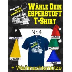 T-Shirt Esperstoft Deep Navy Nr. 4 mit Weihnachtsmütze