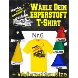T-Shirt Esperstoft Yellow Nr. 6 mit Weihnachtsmütze