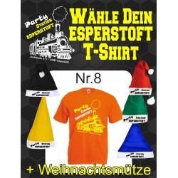 T-Shirt Esperstoft  Orange Nr. 8 mit Weihnachtsmütze